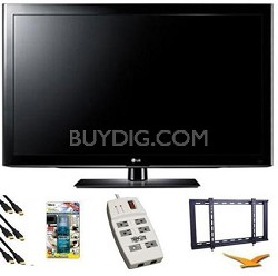 42LK450 - 42 Inch 1080p LCD TV w Mount, Surge Protector, HDMI, TV Cleaner