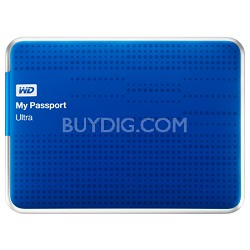 My Passport Ultra 500GB USB 3 Portable Hard Drive -WDBPGC5000ABL (Blue) OPEN BOX
