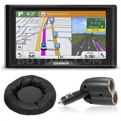 Drive 60LMT GPS Navigator (US and Canada) Charger + Dash Mount Bundle