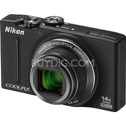 COOLPIX S8200 Black 14x Zoom 16MP Digital Camera - OPEN BOX