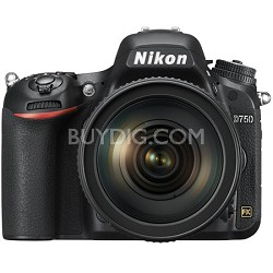 D750 DSLR 24.3MP Digital Camera w/ AF-S NIKKOR 24-120mm f/4G ED VR Lens