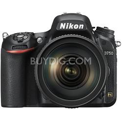 D750 DSLR 24.3MP Digital Camera w/ AF-S NIKKOR 24-120mm f/4G ED VR Lens