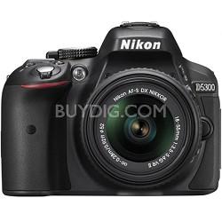 D5300 DX-Format Digital SLR Camera Kit w/ 18-55mm DX VR II Lens - Black