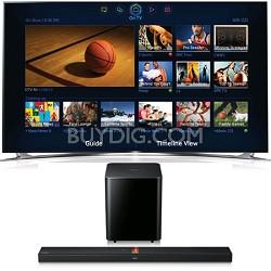 UN65F8000 65 inch 1080p 240hz 3D Smart Wifi TV + HW-F750 Soundbar Bundle