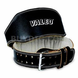 "6"" Padded Leather Belt in Black - VA4688SM"