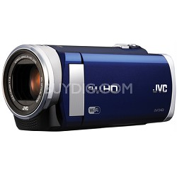 "GZ-EX210AUS - HD Everio Camcorder f1.8 40x Zoom 3.0"" Touchscreen WiFi (Blue)"