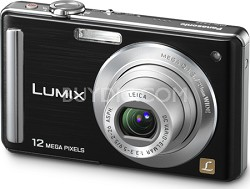 "DMC-FS25K LUMIX 12.1 MP Compact Digital Camera w/ 3.0"" Intelligent LCD (Black)"