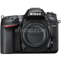 "D7200 DX-Format 24.2MP Digital HD-SLR Body with 3.2"" LCD WiFi NFC"
