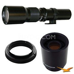 500P - 500mm f/8.0 Telephoto Lens for Nikon with 2x Multiplier