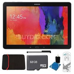"Galaxy Tab Pro 12.2"" Black 32GB Tablet, 32GB Card, Headphones, and Case Bundle"