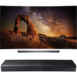 "OLED55C6P 55"" Curved OLED 4K Smart TV w/ UBD-K8500 3D 4K Ultra HD Blu-ray Player"