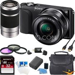 NEX-3NL Digital Camera  w 16-50, 55-210 Lens Ultimate Bundle (Black)