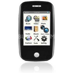 "E6 Series - 4GB MP3 Video Player w/ 3"" Touchscreen, Camera w/ Video - Black"