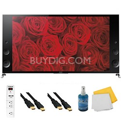 55-inch 120Hz 3D LED X900B Premium 4K Ultra HD TV Plus Hook-Up Bundle XBR55X900B