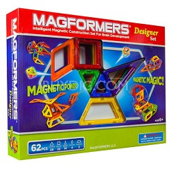 63081 Designer 62pc Magnetic Construction Set