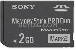 2GB Memory Stick PRO Duo Mark 2 Media  -  {MS-MT2G}