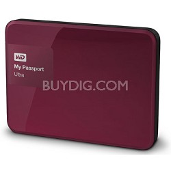 My Passport Ultra 3 TB Portable External Hard Drive, Berry