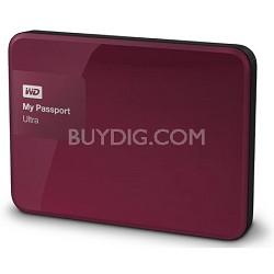 My Passport Ultra 3 TB Portable External Hard Drive, Berry