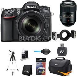 D7100 DX-Format Digital HD-SLR with 18-105mm VR Lens Close up Bundle
