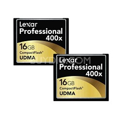 Professional 400x CF 2-Pack 16 GB Memory Cards