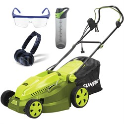"16"" 12 AMP Maintenance Free Instant Start Electric Lawnmower & Accessories Kit"
