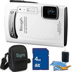 Tough TG-310 14 MP Water/Shock/Freezeproof Digital Camera White 4GB Kit