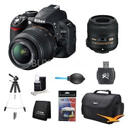 D3100 14MP DX-format Digital SLR w/ 18-55mm and 40mm Lens Kit