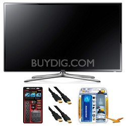"UN50F6300 50"" 120hz 1080p WiFi LED Slim Smart HDTV Surge Protector Bundle"