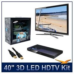 "UN40C7000 - 40"" 3D 1080p 240Hz LED HDTV Kit w/ 3D Glasses & Blu-Ray Player"