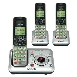 3-Handset Dect 6.0 Expandable Cordless Phone System Answering - OPEN BOX