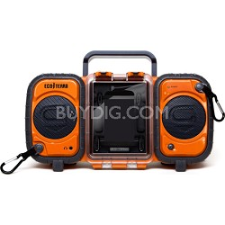 GDI-AQ2SI60 ECOXGEAR Rugged and Waterproof Stereo Boombox - Orange