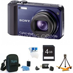 Cyber-shot DSC-HX7V Blue Digital Camera 4GB Bundle