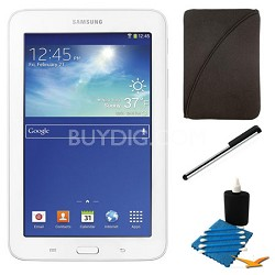 "Galaxy Tab 3 Lite 7.0"" White 8GB Tablet and Case Bundle"