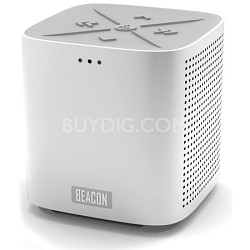 Blazar Portable Bluetooth Speaker and Speakerphone - Silver Aluminum