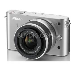 1 J1 Mirrorless Digital Camera w/ 10-30mm VR Lens (Silver) Factory Refurbished