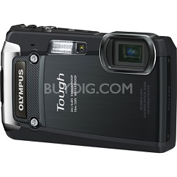 Tough TG-820 iHS 12MP Waterproof Shockproof Freezeproof Digital Camera - Black -