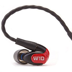 W10 Premium Single Driver In-Ear Monitor Noise Isolating Headphones - 78501