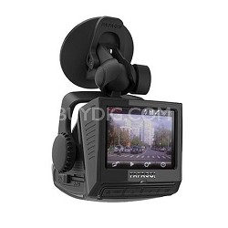 "P3 Full HD 1080P Dashcam with Built-In GPS and US Digital Map 2.4"" LCD (Black)"