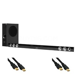 HT-SB60U Soundbar System with Wireless Subwoofer + Cables