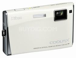 Coolpix S60 Digital Camera (Arctic White)