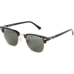 RB3016  Black 49MM Classic Clubmaster Sunglasses