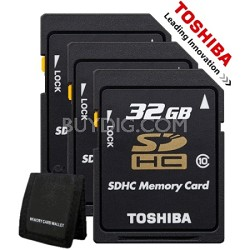 3 Pack Toshiba 32GB Memory Card