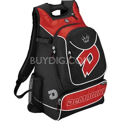 Vexxum Backpack Baseball Gear Bag - Black/Scarlet