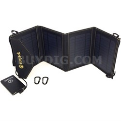 14W Portable Solar Charger With 8000mAh Fast-Charge Battery - DCSJ14
