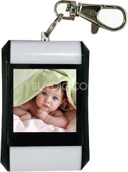 """DF15-BK 1.5"""" Keychain Digital Photo Frame - Holds up to 107 Images (White)"""