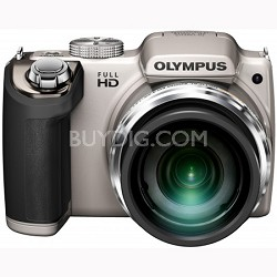 SP-720UZ 14MP 26x Opt Zoom 3-Inch LCD Digital Camera - Silver - OPEN BOX