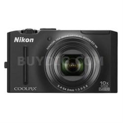 COOLPIX S8100 12.1 Megapixel Black Digital Camera w/ 1080p HD Video Refurbished