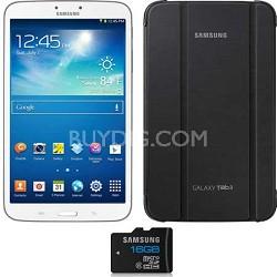 Galaxy Tab 3 (16GB, WiFi, White) + Samsung Original Case & 16GB MicroSD Card
