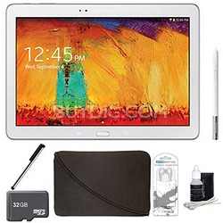Galaxy Note 10.1 Tablet 2014 Edition (16GB, WiFi, White) 32 GB Accessory Bundle
