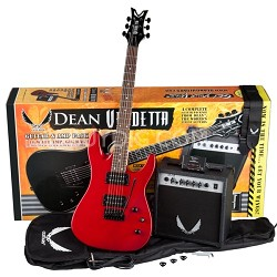 Vendetta XM Tremolo Electric Guitar Pack with Amplifier - Red